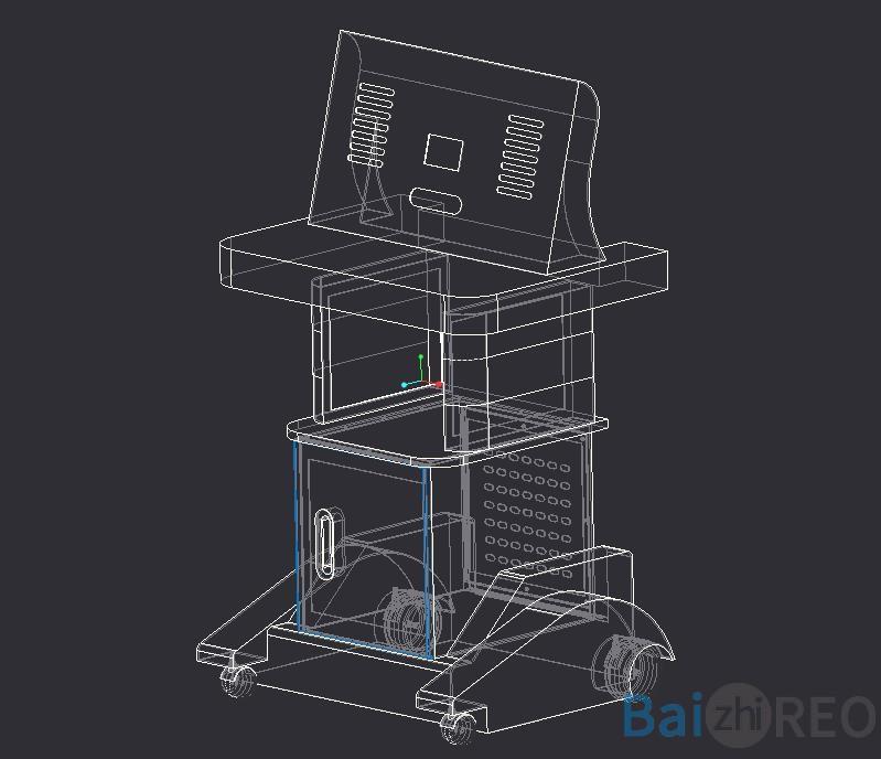 医疗器械台车外观设计